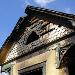 Smoke damage to a building